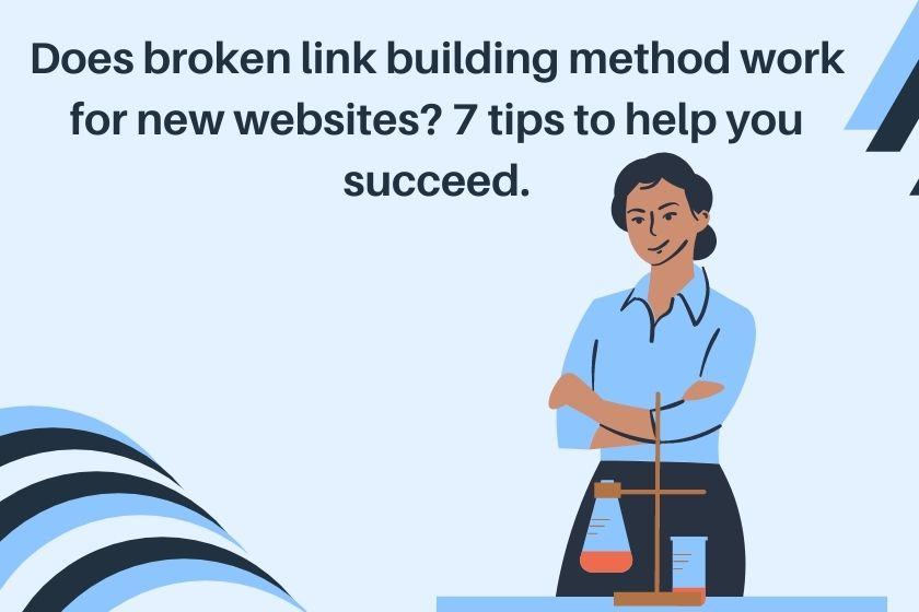 broken link building method for new websites